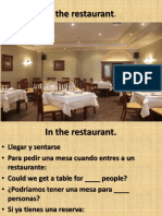 Topic 29 in the Restaurant in English.