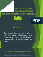 Diseño de Estrategias Didácticas Comunicativas Para La Producción