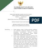 Peraturan Menteri ATR Nomor 7 Tahun 2017