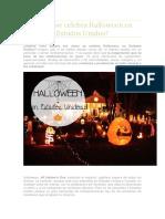 Cómo Se Celebra Halloween en Estados Unidos