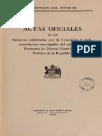 Actas de La Constitución de 1925