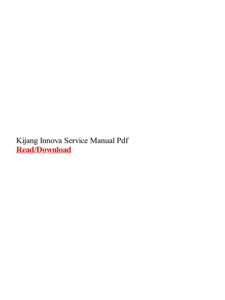 Toyota Kijang Innova Wiring Diagram Pdf Service Manual Pdfrhscribdcom