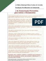 Dicas de Conservação Preventiva para Livros e Documentos