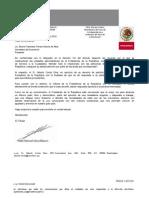 Carta de Presidencia  a Bruno Ferrari MInistro de Economía.