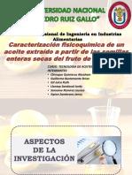 Caracterizacion de aceite de semila de marcuya
