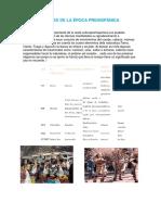 Danzas de La Época Prehispánica