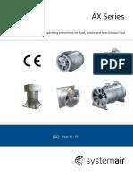 Systemair AX Installation Manual Eng