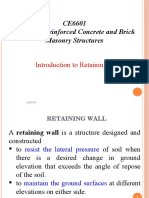 Introduction to Retaining Wall