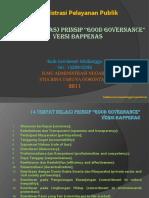 14 Good Governance Versi Bappenas