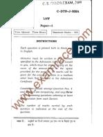IAS Mains Law 2009