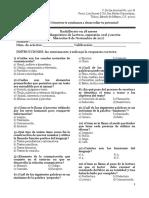 Examen Diagnóstico de Lectura Expresión Oral y Escrita