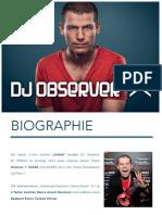 DJ Observer - Portfolio 2016 German
