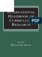 [William F. Pinar] International Handbook of Curriculum