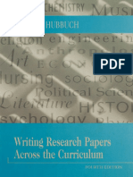 [Susan M. Hubbuch] Writing Research Papers Across