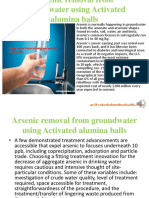 Arsenic Removal From Groundwater -activatedaluminaballs.com