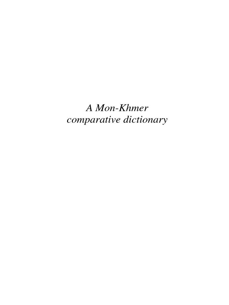 A Mon-Khmer Comparative Dictionary  5076a073fdf