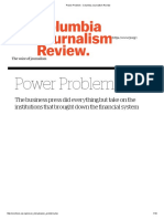 Power Problem - Starkman Columbia Journalism Review 2009
