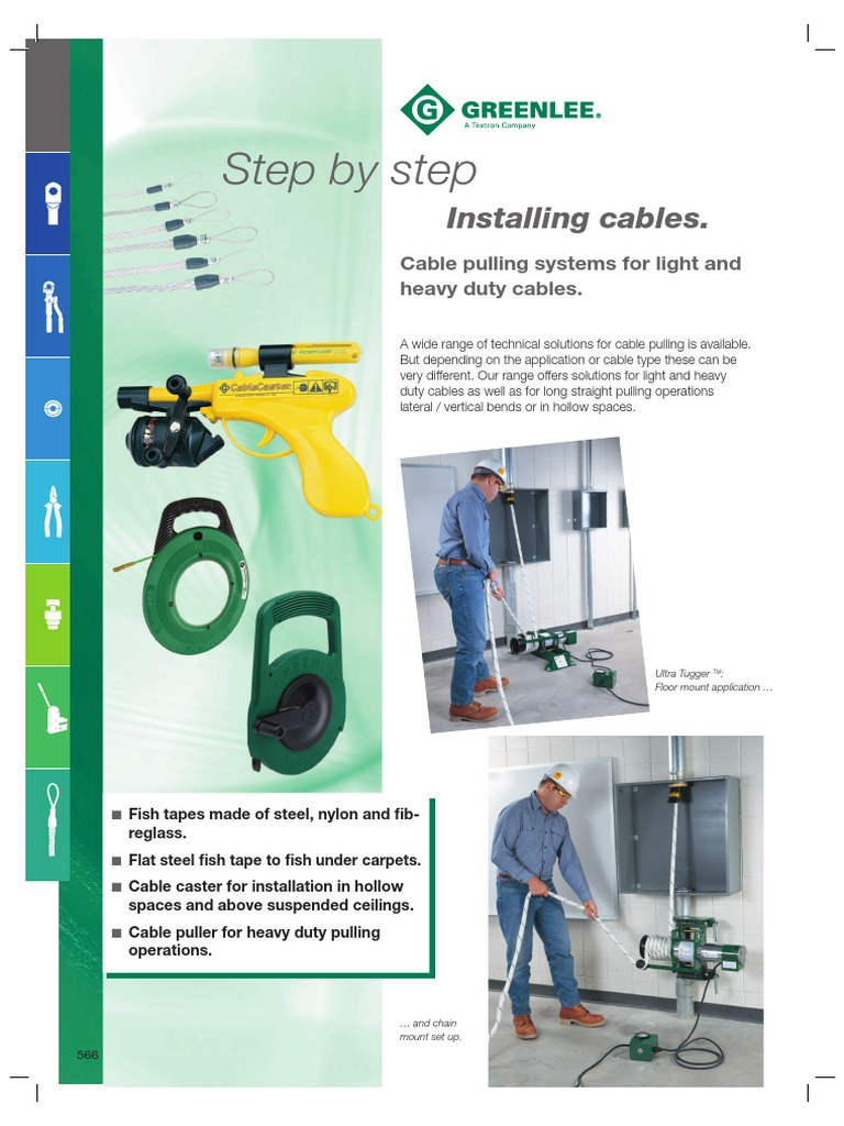 Greenlee Cable Pulling Equipment System | Rope | Manufactured Goods