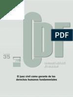 El Juez Civil Como Garante de Los Derechos Humanos Fundamentales (Derecho Español)