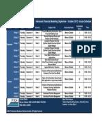 PBSI AFM Sept-October 2017 Schedule