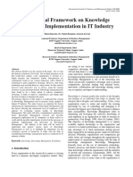 A Conceptual Framework on Knowledge Management Implementation in IT Industry