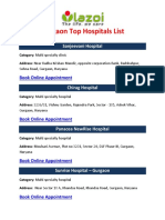 Gurgaon Top Hospitals List - Lazoi.com