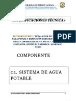 1.0. Especificaciones Tecnicas Sistema de Agua Potable Corregido Por Mi