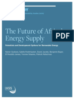 Study March 2016 the Future of Africas Energy Supply