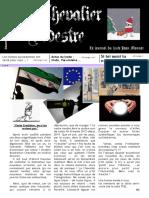 Le chevalier pédestre - Le journal du lycée Jean Monnet (Mortagne au Perche) - Numéro 2 - décembre 2013
