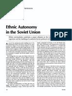 Ethnic Autonomy