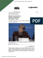 La Jornada_ Sistema de pensiones en México no responde a necesidades_ Cepal