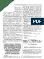 Aprueban la Implementación de la segregación en la furente y recolección selectiva de residuos sólidos municipales en la provincia de Barranca