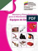 Normas y Procedimientos Para Mtto de Equipos de Emergencia