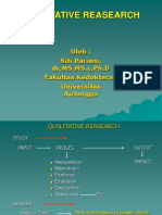 Qualitative Reasearch - Dr. Siti Pariani