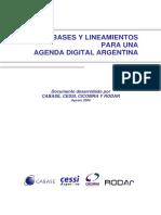 Bases y Lineamientos Para Una Agenda Digital Argentina