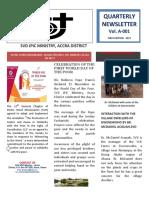 SVD GHANA  ACCRA DISTRICT JPIC NEWSLETTER