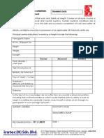 IRATEC Medical Form