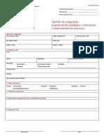 ZA(IMPR06)46-02 UPITNIK Za Osiguranje Pojedinacnih Posiljaka u Domac...