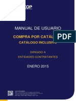 Manual Compra Por Catálogo Catálogo Inclusivo Entidades Contratantes