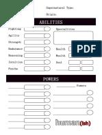 Human(Ish) CharacterSheet