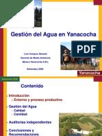 Luis Campos- Gestion Del Agua en Yanacocha