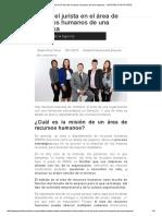 El Rol Del Jurista en El Área de Recursos Humanos de Una Empresa - JURISTAS CON FUTURO