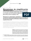Mecanismos de Simplificación Administrativa