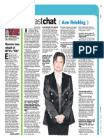 "Newsday ""Fast Chat"" - Ann Reinking"