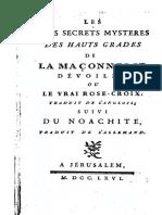 BÇrange - Les Plus Secrets Mystäres Des Hauts Grades de La Maáonnerie DÇvoilÇs (1)