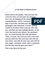 A Reading From the Book of Deuteronomy