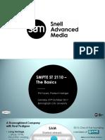 Smpte Uk & Sam - St 2110 the Basics Final