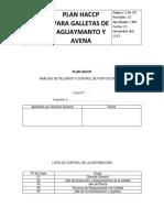 Haccp Galletas Aguaymanto y Avena TRABAJO FINAL
