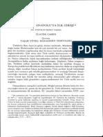 Cahen_Turklerin Anadoluya Ilk Girisi_Belleten, Sayı 201 (Ankara 1988), s. 1375- 1431