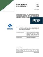 GTC 231 - GUÍA PARA EL USO DE PERFORACIÓN MAXI-HORIZONTAL DIRIGIDA PARA INSTALACIÓN DE TUBOS O DUCTOS DE PE (cruce de rios).pdf